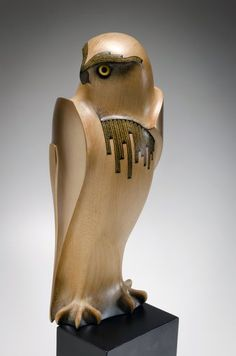 Medium: kauri, painted MDF base. Size: 22.75 x 6.25 x 10.5 inches. Uncatalogued A New Zealand endemic, the Karearea is a powerful, swift, medium-sized bird of prey with long-fingered wings, a long tail, a short hooked bill and long sharp talons. Primarily a bird of the forest and bush, loss of habitat by human encroachment has severely reduced its range and driven it out of settled areas into more remote regions.