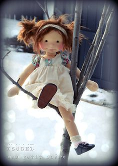 Isobel-OOAK handmade doll by Mon Petit Frère | Flickr - perfectly captured a carefree little girl. Love these!!