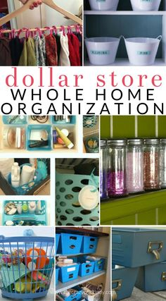 I've scoured the internet for the very best dollar store organizing tips - Here's how to organize your whole house with dollar store supplies! Check out these organizing ideas for every room in your house, even your craft room and the car.
