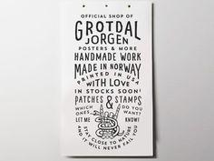 Poster for shop by Jorgen Grotdal