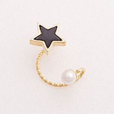 ONE PIECE Cute Pentagram Faux Pearl Ear Cuff For Women-1.49 and Free Shipping| GearBest.com