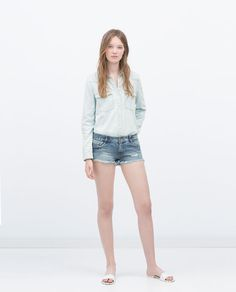 ZARA - NEW THIS WEEK - BASIC DENIM SHIRT