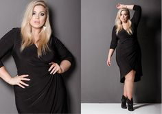 Harlow Lookbook AW 16.2 Page 7 Plus Size Fashion, Curves, One Shoulder, Beauty, Black, Dresses, Women, Vestidos, Black People
