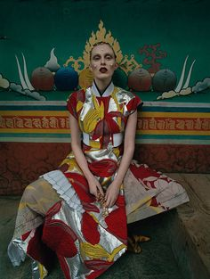 Karen Elson shot by Tim Walker - Vogue US May 2015