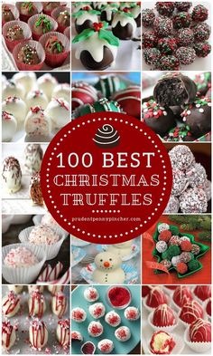 Truffles are the perfect Christmas dessert to bring to a holiday party because they are easy to make, look fancy and feed a crowd. Also, these truffles will make great gifts for friends and neighbors! Here is a round up of the best Christmas truffle recip Christmas Truffles, Christmas Deserts, Christmas Fun, Christmas Parties, Winter Parties, Christmas Chocolates, Christmas Cake Pops, Christmas Foods, Christmas Appetizers