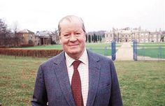 Princess Diana's Father Earl Spencer Outside His Home Althorp House In Northamptonshire.