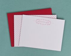 Custom letterpress stationary that can be bought at Mariee Ami.