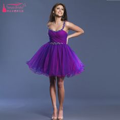 Find More Homecoming Dresses Information about Purple Short Mini Homecoming…