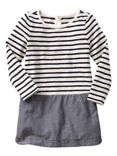 Mix-media stripe dress Product Image