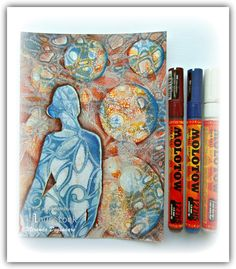 Hi there Gelli-plate fans, Miranda here with some new Gelli-plate inspiration........many layers.....so take your time, have ...
