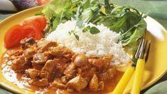 Kalkun Stroganoff oppskrift med næringsinnhold, allergener, og pris. Turkey Recipes, Protein, Curry, Beef, Chicken, Cooking, Ethnic Recipes, Food Ideas, God
