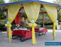 Park Party Decorations Patio Decor Ideas Outdoor Birthday