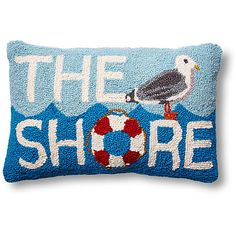 The Shore Seagull 12x18 Wool Pillow Decorative Pillows (29 CAD) ❤ liked on Polyvore featuring home, home decor, throw pillows and wool throw pillows