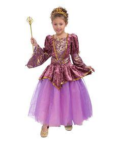 Look at this #zulilyfind! Plum Princess Dress - Girls #zulilyfinds
