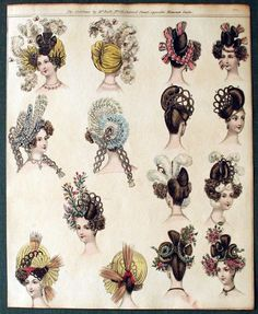 Hairstyles and hats, ca. 1830: part 1
