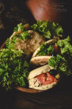 Mini batbout, czyli marokańskie chlebki z patelni z sałatką z tuńczyka Tacos, Mexican, Ethnic Recipes, Food, Essen, Meals, Yemek, Mexicans, Eten