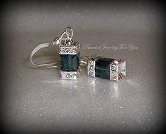 Wedding Jewelry Montana Blue Emerald Green by beadedjewelryforyou