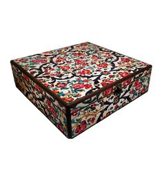 30cm x 30cm x 9cm-Beautiful Wooden Hand Made Accessories Box with Decoupage Technic-DBP-30x30-05
