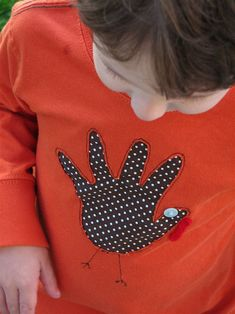 diy hand turkey shirt!
