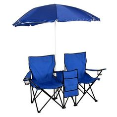 #beachaccessoriesstore Best Choice Products Picnic Double Folding Chair w Umbrella Table Cooler Fold Up Beach… #beachaccessoriesstore