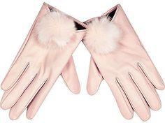 Pin for Later: Die Pantone Farben des Jahres 2016 sind super tragbar!  River Island Rosa Lederhandschuhe mit Puscheln (33 €)