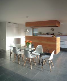 House M by Moorhouse Architecture. Dinesen kitchen Island with secret storage.