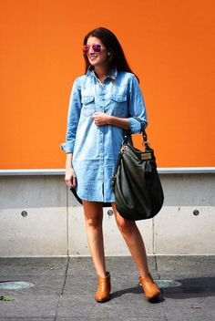 Blogger Gold Coast Girl transitions her Gap western shirtdress into a fall favorite.