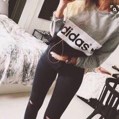 Adidas sweatshirt Adidas sweatshirt sz lg.. Worn once.. First pic inspiration Adidas Tops Sweatshirts & Hoodies