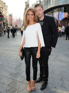 Professor Green introduces Millie Mackintosh to musical friends Plan B and Tinie Tempah at the Ill Manors premiere   Mail Online