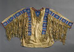 Lakota Sioux Man's Beaded and Fringed Hide Shirt