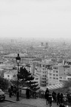 photographie noir et blanc vue sur Paris