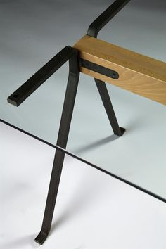 Frate. Dining table - detail - designed by Enzo Mari for Driade, Italy. 1973.