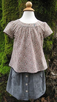 Family Reunion blouse and Hopscotch skirt