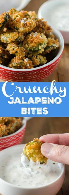 Golden brown, crispy and spicy these Crunchy Jalapeño Bites are the perfect snack for spicy food addicts!