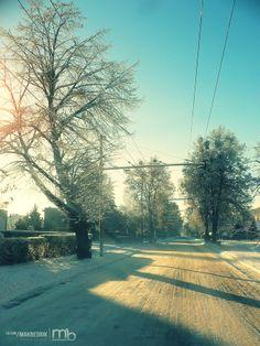 Winter road by Matthew Vavrek on 500px