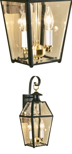 The Old Colony Black Outdoor Wall Mount is a perfect blend of vintage and trendiness. The rich looks of traditional styling features beveled glass case encaged in metal frames and the practicality of modern use-of-use. Its golden-brass support holds the bulbs and adds an elegant and rich touch to your home.