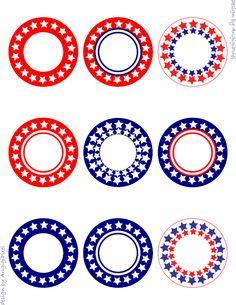 patriotic circles editable printables pattern on Craftsy.com
