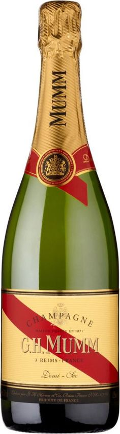 G.H. Mumm Demi-Sec...quite possibly my favorite bubbly!