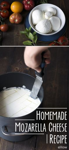 Make your own fresh mozzarella! It's easier than you think and this recipe is so handy to have! Pizza, pasta, anything with mozzarella has never tasted this good! http://www.ehow.com/how_2307249_make-mozzarella-cheese-home.html?utm_source=pinterest.com&utm_medium=referral&utm_content=freestyle&utm_campaign=fanpage
