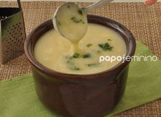 Caldo de batata e queijo
