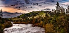 American River, Sky, Clouds, Sunset
