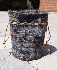 Shipwreck & Longest Night crochet drawsting bag- by yarnloopie, via Flickr