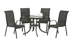 Buy Alexander Rose Garden Furniture from EW Home Furniture, with off and free delivery on orders over Dining Set, Dining Table, Outdoor Tables, Outdoor Decor, Stacking Chairs, Black Table, Clear Glass, Outdoor Living, Outdoor Furniture Sets