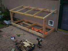 indoor/outdoor litter box / cat house