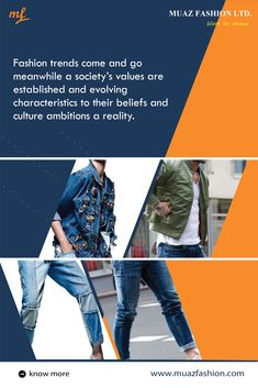 #Fashion trends come and go meanwhile a society's values are established and evolving characteristics to their beliefs and culture ambitions a reality. #MuazFashion For inquary, you may contact with us- 📞 +88 01714 137099 ✉️ info@muazfashion.com 🌐 www.muazfashion.com #fashiontrends #summerfashiontrends #kidsfashiontrendsetters #womenfashiontrends #springfashiontrends #bestfashiontrends #2020fashiontrends #malefashiontrends #fashionstyle #fashionweek #fashionblogger #fashionphoto… Spring Fashion Trends, Summer Fashion Trends, Garments Business, Fashion Photo, Kids Fashion, Come And Go, Ambition, Culture, How To Wear