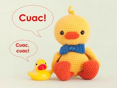Amigurumi Duck Tutorial : Tutorial patitos tejidos a crochet amigurumi duck