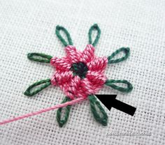 Saturday Stitches: Chain Stitch Spider Daisy tutorial - this is freakishly cool!