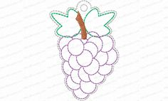 Jesse Tree Ornament Day 9 Grapes Embroidery Design is a way to advent with your family and countdown the days until Christmas. 25 ornaments in the whole set.