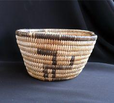 Old Navajo Native American Basket Whirling Log Design | eBay