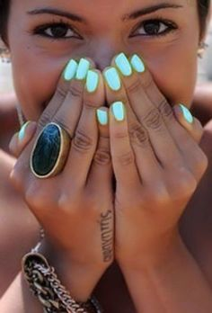 """Love the nail color...china glaze, """"highlight of my summer"""""""